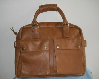 Laptop Travel Leather Bag