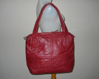 Guinevere Red Leather Tote