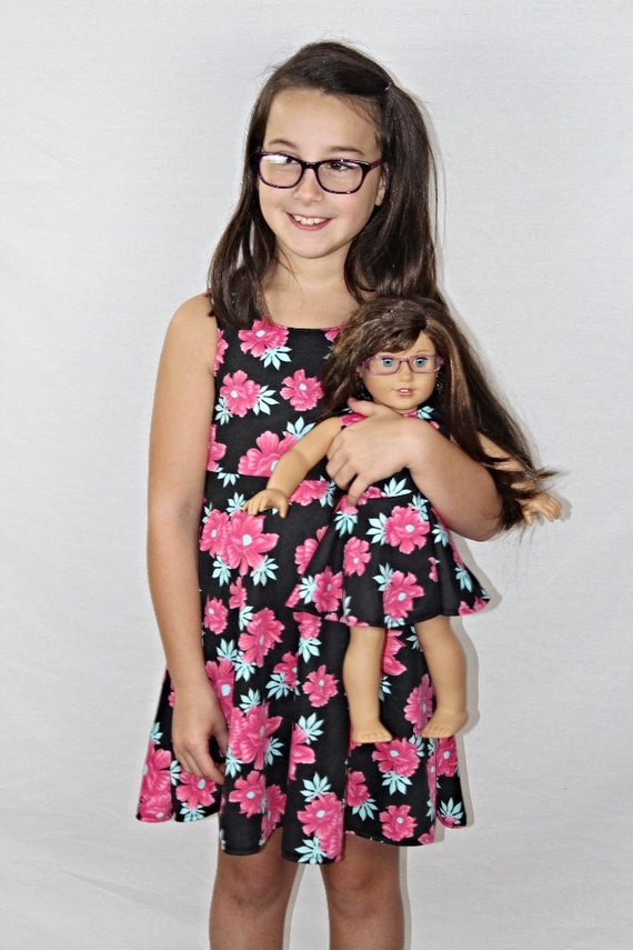 Size 7/8 Medium Girl and Doll Matching Dresses Dollie and Me