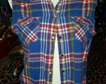 Neon Retro Robot Vest