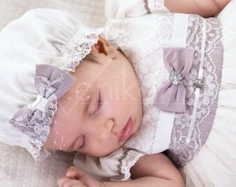 christening baby girl bonnet