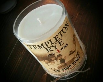 Templeton Rye whiskey candle