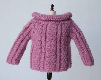 Blythe sweater Pink blythe sweater Blythe outfit Blythe doll knitting Blythe fashion Wool outfit Blythe doll outfit