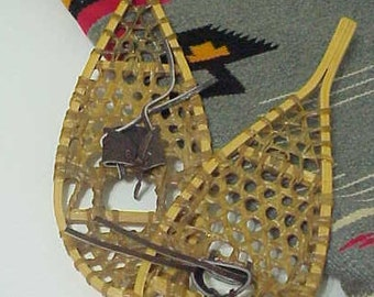 Vintage Snowshoes-Toddler Snowshoes Canadian Pair