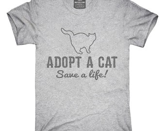 Adopt A Cat Save A Life Animal Welfare T-Shirt, Hoodie, Tank Top, Gifts