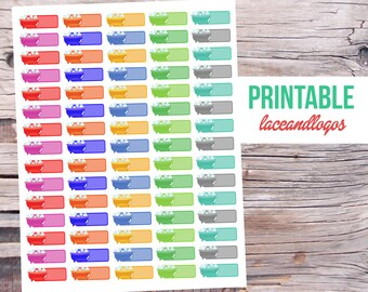 Printable Planner Stickers Bath Labels   Happy Planner Bathtub  Rainbow Colors Multicolor Spa Day Relax Me Time  JpgFor Erin CondrenPlanner