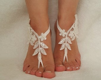 6 colors beach wedding sandals  bridal anklet bridesmaid gift lace bangle feet accessories  foot jewelry flexible wrist teampunk bellydance