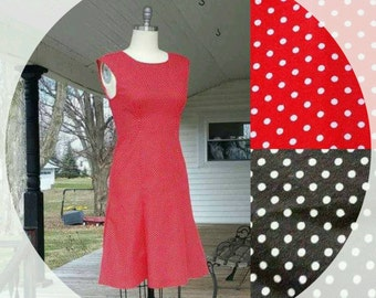 Women's Dress in Polka-Dot Vintage inspired 1950s 50s retro