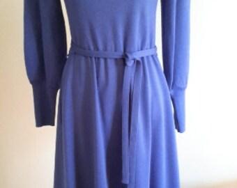 Vintage  1980's Blue Jacobson's Dress.