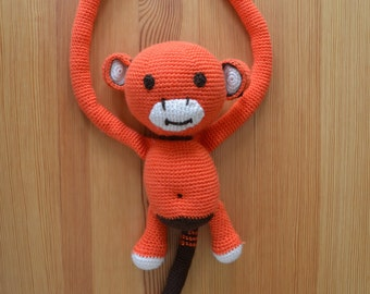 Handmade Knitted Plush Toy - Monkey