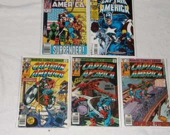 marvel comics-lot of 5-captain america-1980-fair
