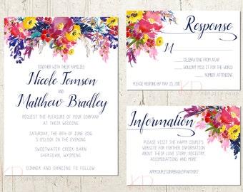 Spring Floral - Wedding Invitation