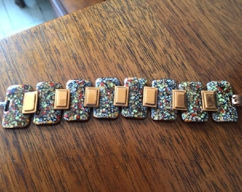 Vintage 1950's Copper and Enamel Bracelet
