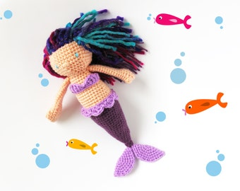 Mermaid doll, amigurumi siren, stuffed toy, doll plush, doll amigurumi, mermaid amigurumi, handmade mermaid, doll for kids, cute mermaid