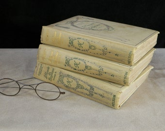 "Set of 3 Books of NELSON collection ""The Vicomte of Bragelonne"" Volumes 1 - 2 - 5 by Alexandre Dumas 