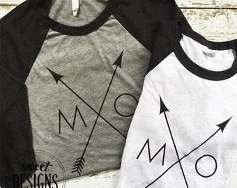 Missouri Arrow Raglan | MO State Raglan Shirt | Missouri Love Shirt