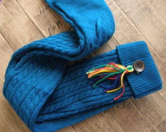 SALE, Boot Socks, Leg Warmers, Boot Topper, Knitted Boot Socks, Women's Accessories, Tassel Leg Warmers,Teal