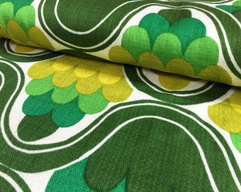 Vintage 70s: 50cmx 1, 20m green pattern