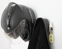 WALL HELMET RACK. Helmet Holder. Helmet Hanger. Helmet Hook. Helmet Shelf. Helmet Storage. Helmet Bracket. Helmet Ledge