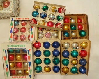 Christmas ornaments vintage 7 boxes