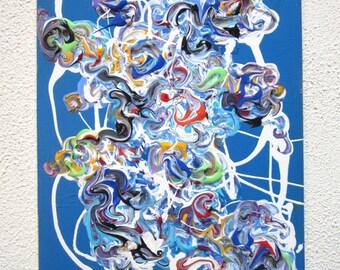 Modern Art Painting, Abstract Artwork on Canvas, 11 x 14 Wall Art, Contemporary Acrylic Painting, Outsider Art, Original Artwork 11 x 14 Art