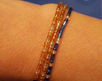 Mothers' bracelets, beaded, birthstone color and name