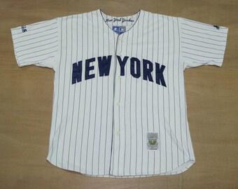 New York Yankees - Size L - Vintage Starter - MLB Baseball Button Up Shirt