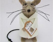 Scientist Mouse - Doctor Mouse - Felt Mice - Felt Mouse - Medical Ornament