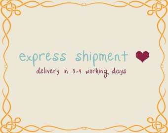 Express Shipment; Delivery in 3-4 Working Days
