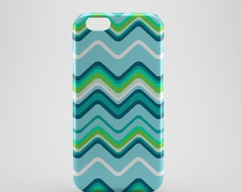 Wavy Lines Chevron Phone case,  iPhone X Case, iPhone 8 case,  iPhone 6s,  iPhone 7 Plus, IPhone SE, Galaxy S8 case, Phone cover, SS140d