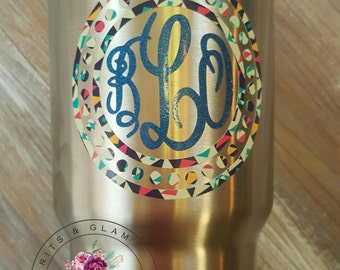 Yeti Monogram Vinyl Decal