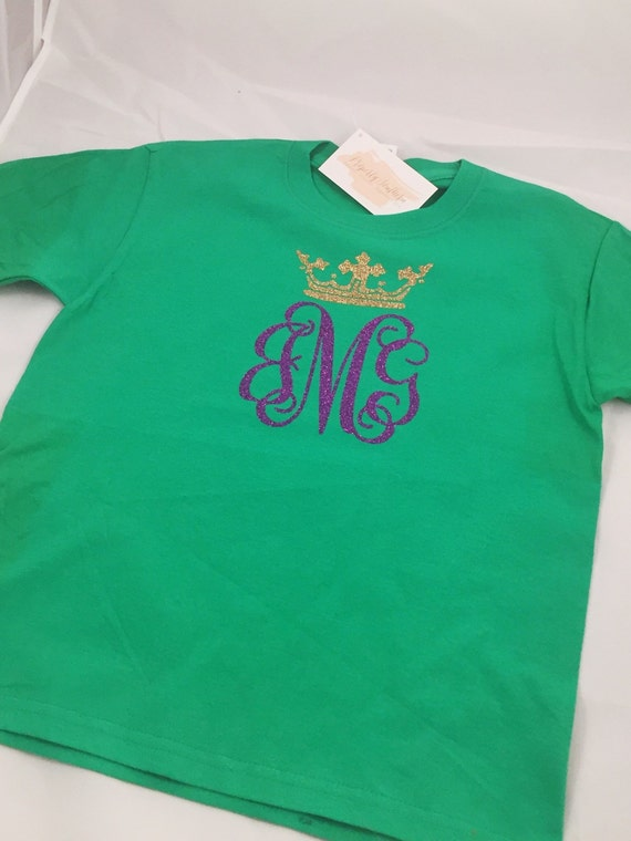 Mardi Gras Monogrammed Shirt - All Sizes