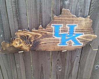 Reclaimed wood Kentucky state sign. Kentucky Unbridled spirit. Kentucky sign, University of Kentucky. UK Basketball, Kentucky Wildcats