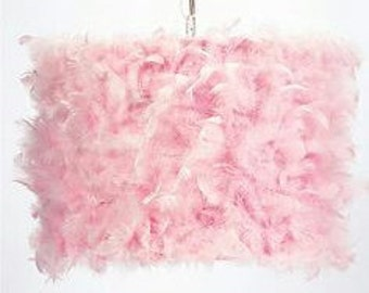 SCREEN drum pink feathers