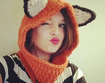 Fox Hoodie Cowl
