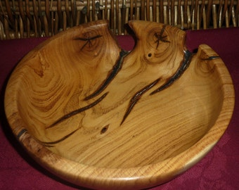 Laburnum Bowl with Natural Spalting