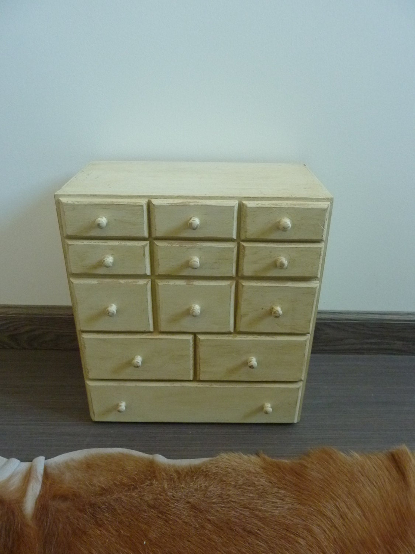 Petit meuble tiroirs ann es 60 vintage haute juice - Petit meuble a tiroir ...