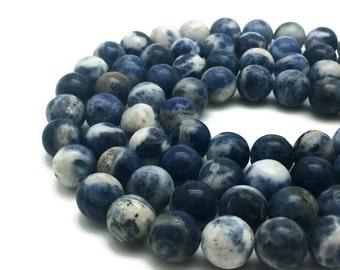 10mm Natural Sodalite Beads Round 10mm Sodalite 10mm Blue Sodalite Blue Sodalite Beads Sodalite Blue Beads Sodalite Stone Sodalite Mala