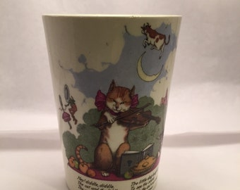 Vintage nursery rhyme cup by midwinter
