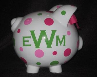 Monogram Personalized Piggy Bank