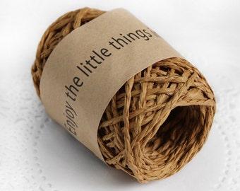 11 yd x Paper string / Brown / twist string / paper cord ribbon / paper twine / gift wrap