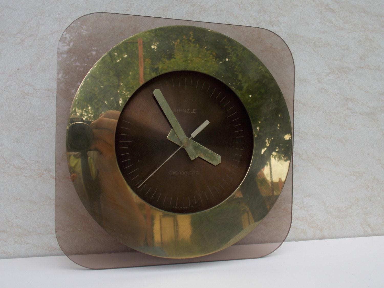 modernist kienzle germany clock metalplastic clock working
