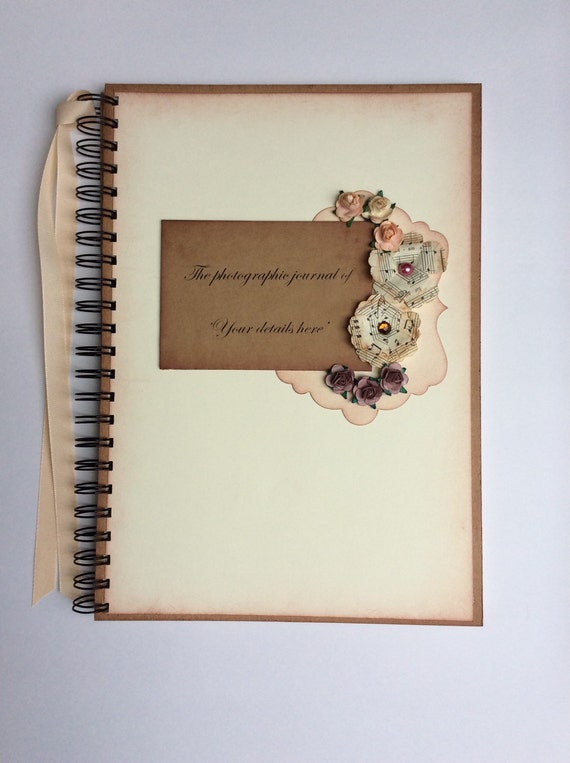 journal, Bridal shower gift, photo album, personalized memory book ...