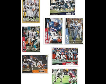 8 Upper Deck 1996 Assorted Football Trading Cards