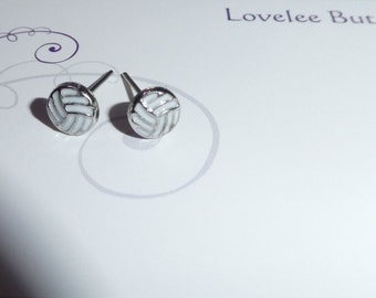 Netball Earrings Very Small & Cute Studs Volleyball