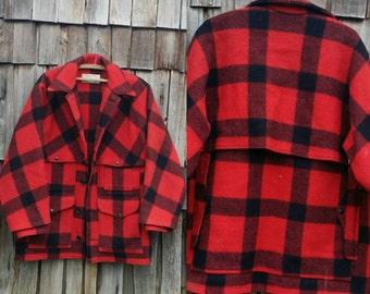 Vintage Filson jacket   Plaid Filson jacket   Filson wool jacket   Double Mackinaw cruiser   Filson Mackinaw jacket
