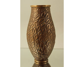 Tinos, Denmark. Art Deco Bronze Vase with Foliage Decoration