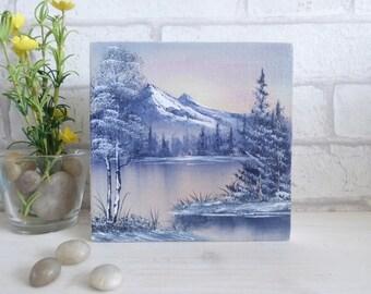 Original Oil Painting 'Warm Winter Landscape '
