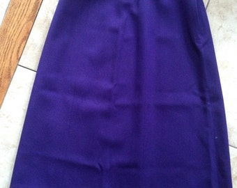 Vintage Purple MARCHING BAND UNIFORM Skirt For Theater Dress Up Or Costume 100% Wool