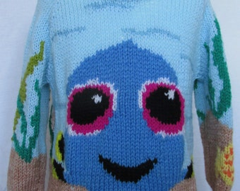 Hand knitted Finding Dory Baby Dory like Fish child's Sweater